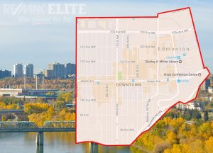 map of downtown edmonton